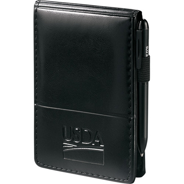 "Windsor Reflections - Jotter With 3"" X 4.75"" Unlined Writing Pad And Pockets For Business Cards Photo"