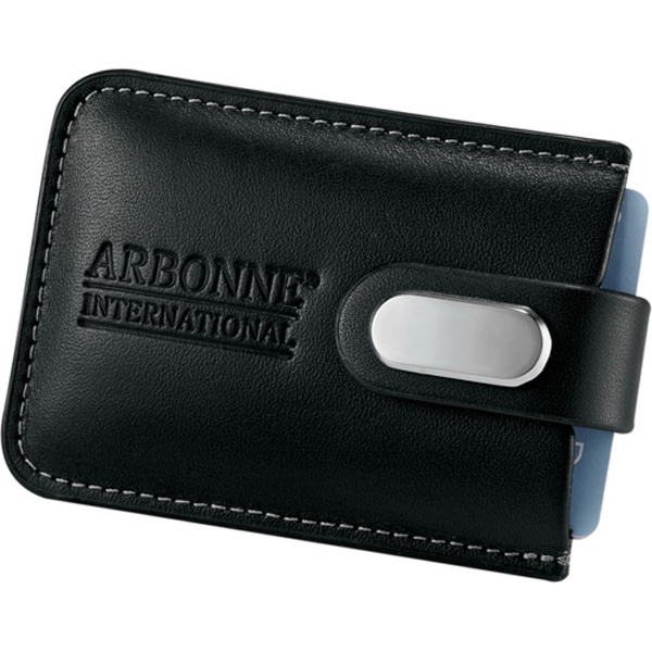 Executive - Black Leather Executive Business Card Case, Holds Up To 20 Business Cards Photo