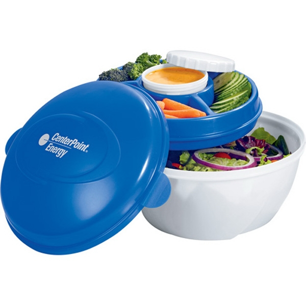 Cool Gear (r) - Deluxe Salad Kit With Freezable Gel Tray That Keeps Your Salad And Dressing Cold Photo