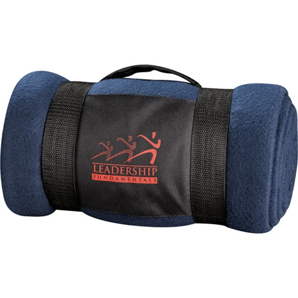 Warm 6' X 4' Fleece Blanket That Comes With A Convenient Carrying Wrap With Handles Photo