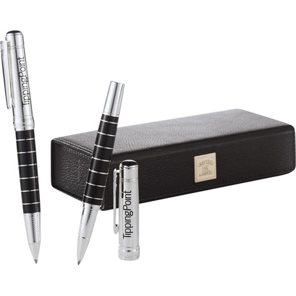 Cutter & Buck (r) Performance Series Parallel - Brass, Twist Action And Roller Ball Pen Set With Brass Cap And Barrel Photo