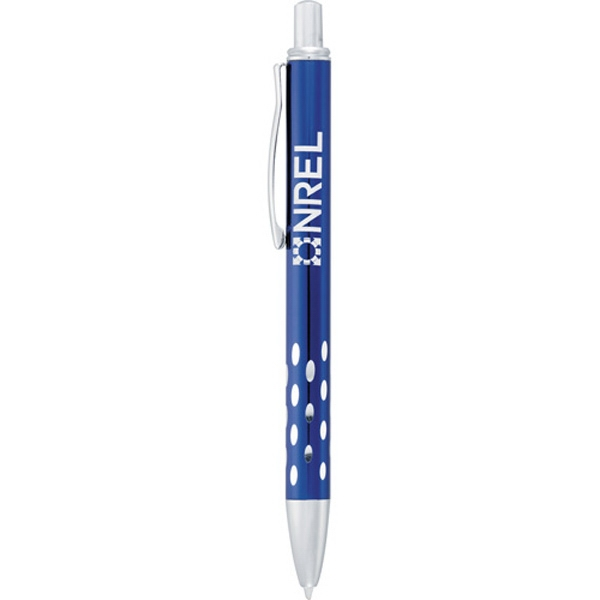 Bergen - Metal/aluminum Pen With A Retractable Click Action Mechanism. Blue Ink Photo