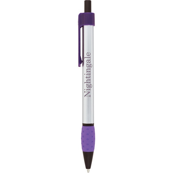 Colorreveal Collection Abraham - Retractable Click Action Mechanism Pen With Black Ballpoint Ink And Rubber Grip Photo