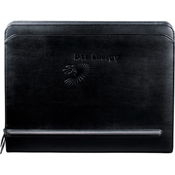 Distinctions - Premier Leather Padfolio. Features A Zippered Closure And Interior Organizer Photo