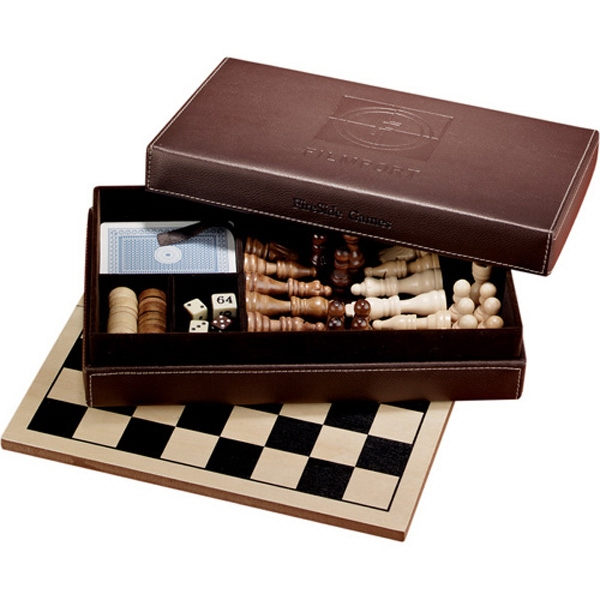 Fireside - Six-in-one Multi Game Set With Chess, Checkers, Backgammon, Tic-tac-toe And More Photo