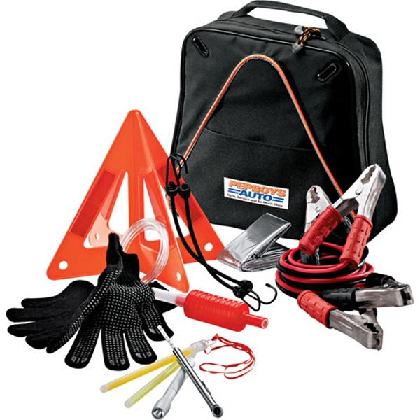 Highway Companion - Twelve-piece Safety Kit Made Of 600 Denier Polycanvas; Includes Tire Gauge And More Photo