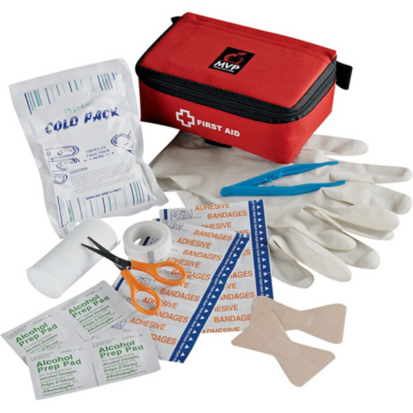 Staysafe - Portable 24 Piece First Aid Kit; Includes A Nylon Case, Scissors, Tweezers And More Photo
