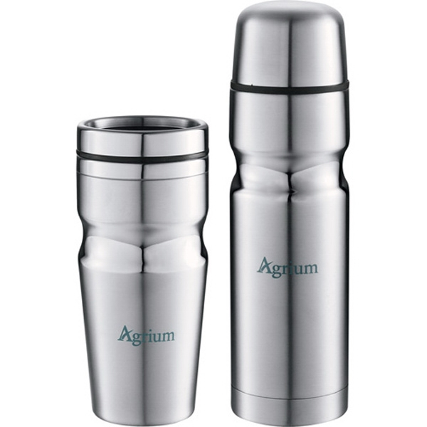 Deco Band - Insulated Band Bottle And Tumbler Gift Set, Constructed Of Stainless Steel Photo