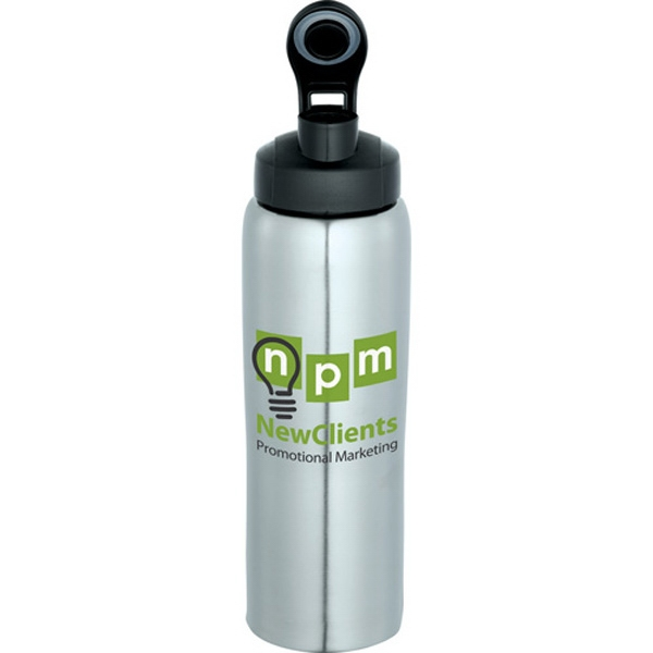 Cruz - Stainless Steel 26 Oz Sport Bottle. Flip-top Lid Spout. Bpa Free Photo