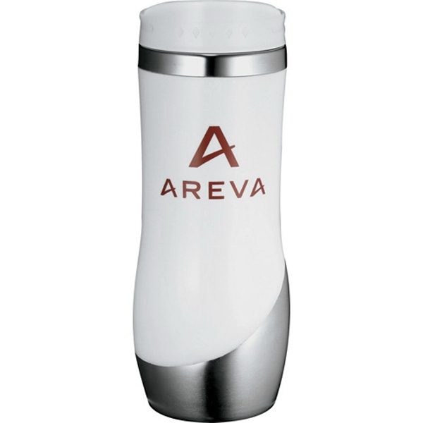 Curved Stainless Steel Tumbler With Stainless Steel Liner, 16 Oz Photo
