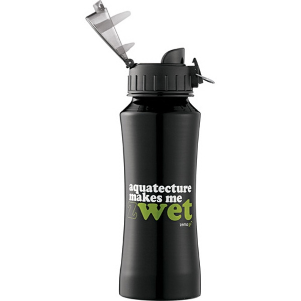 Nitro - Aluminum 18 Oz Bottle With Plastic Flip-top Lid Photo