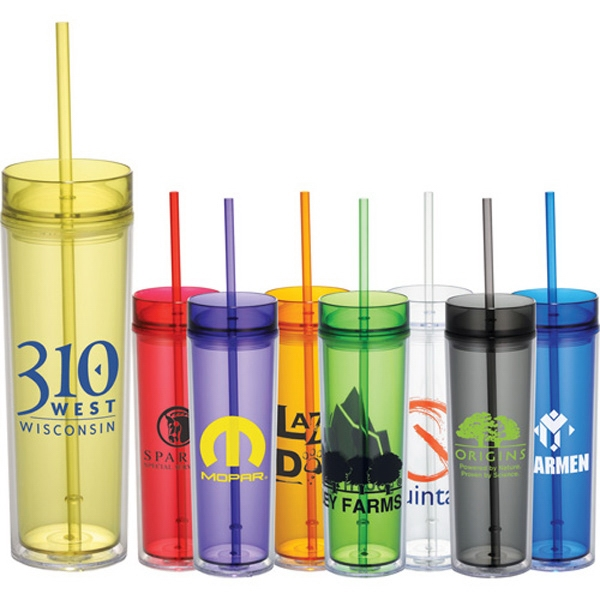 Double-wall Acrylic Tumbler With Two Lids. Bpa Free Photo