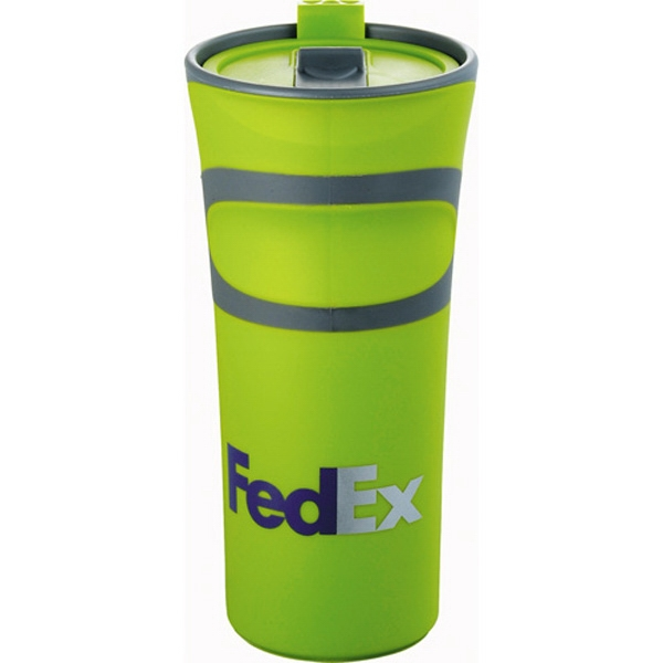 Groovy - Double-wall Tumbler With An Easy Push-on Thumb Slid Lid. Bpa Free Photo