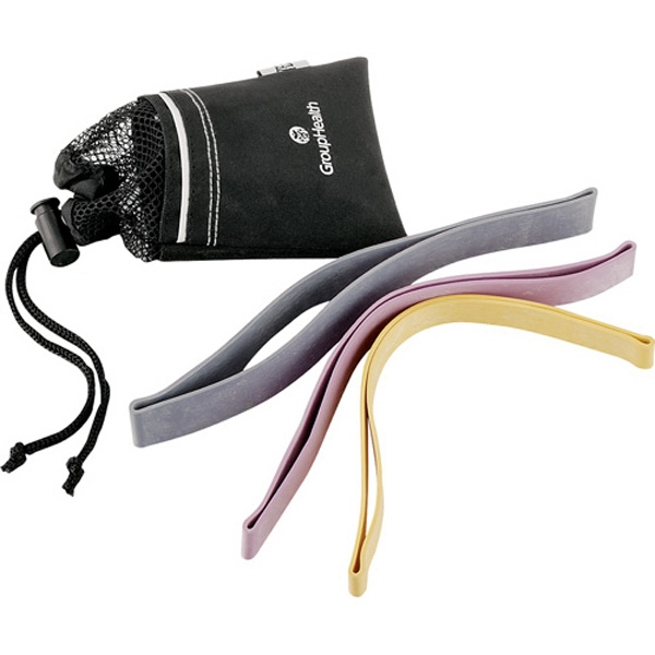 Everlast (r) - Set Of Three Pilates Aerobic Bands, Includes Fitness Guide And Drawstring Pouch Photo