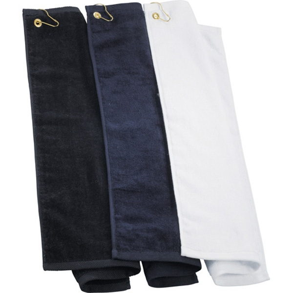 Protowels - Golf Towel Made Of Cotton, Features Corner Grommet And Hook Photo