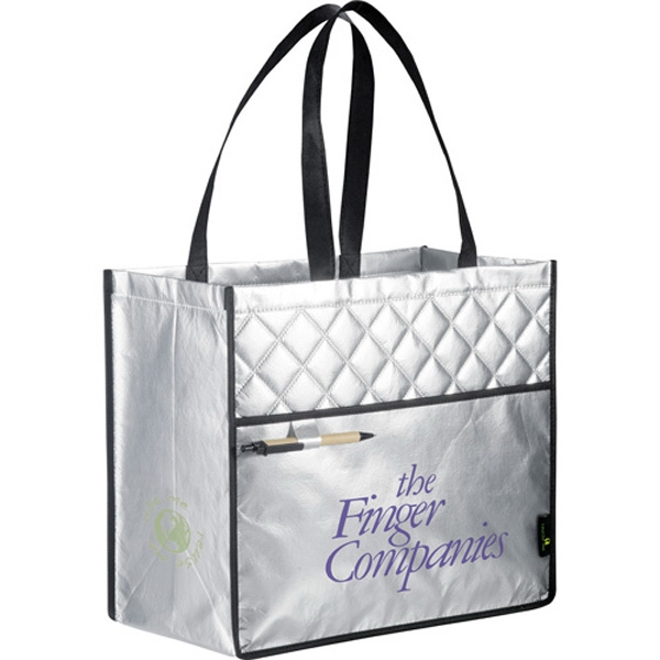 Laminated Non-woven Quilted Carry-all Tote Photo