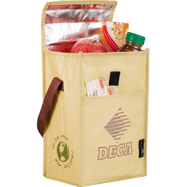 Brown Baggin' It - Lunch Bag Made Of 110g Laminated Non-woven Polypropylene Photo