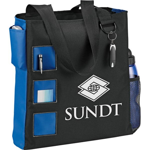 Square Convention Tote Made Of 600d Polycanvas Photo
