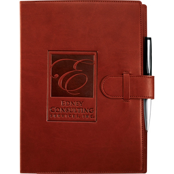 Dovana Journalbooks (r) Pedova (tm) - Large Bound Journal With Tab And Loop Closure Photo
