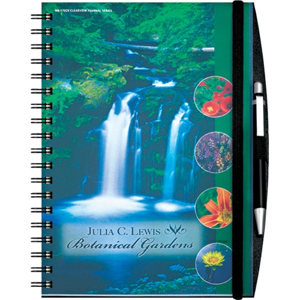 Reveal Journalbooks (r) - Journal With Full-color, Heavy, Coated Insert Page In Cover. Elastic Closure Photo