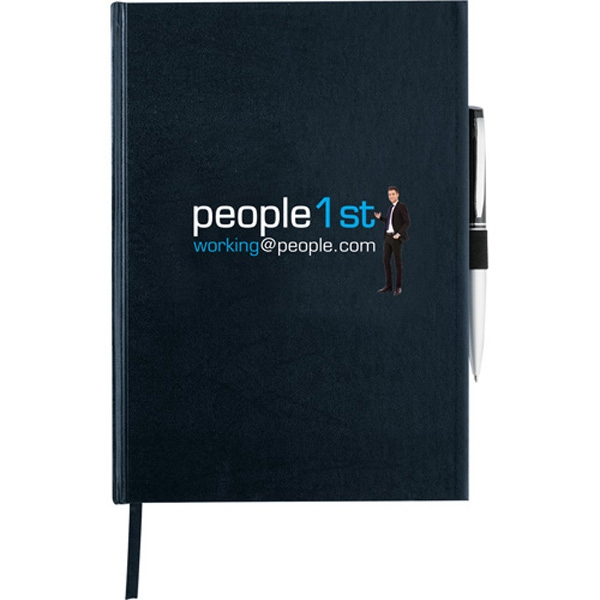 Journalbooks (r) - Executive Large Bound Journal With Elastic Pen Loop Photo