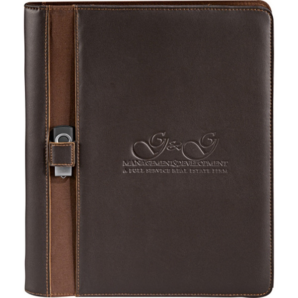Stratford - Ultrahyde Writing Pad. Pen Loop And Usb Flash Drive Holder On Interior Organizer Photo