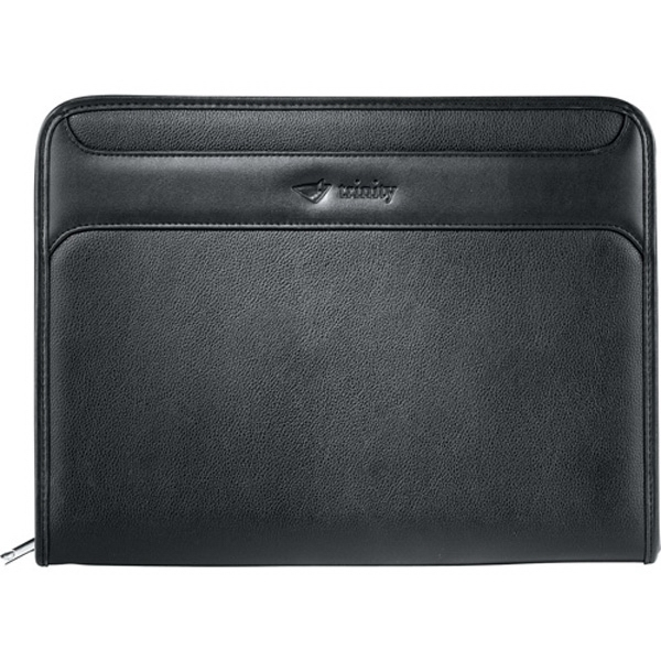 Burke - Pebble Grain Ultrahyde Zippered Padfolio With Velcro (r) Closure Photo