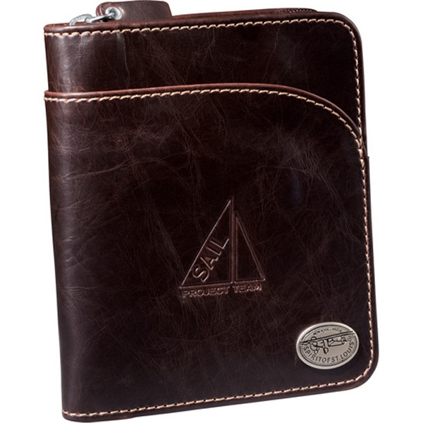 Spirit Of St. Louis (r) Venturer - Brown Ultrahyde Travel Wallet With Pockets For A Passport, Cash, And More Photo