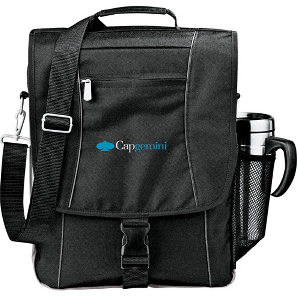 "Verona - Black 600 Denier Polycanvas Computer Briefcase, Holds Up To A 15"" Laptop Photo"