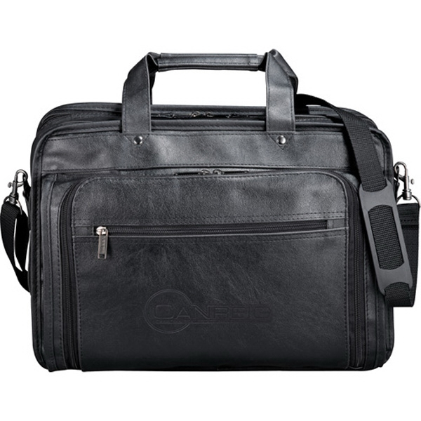 "Black Durahyde Computer Attache With A Padded Computer Pouch, Holds A 17"" Laptop Photo"