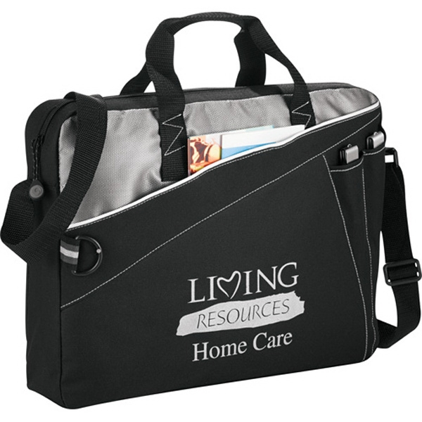 Skyline - 600 Denier Polycanvas Briefcase With Zippered Front Pocket Photo