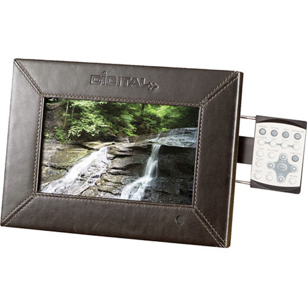 "7"" Leather Photo Frame, 1gb Memory Included Photo"