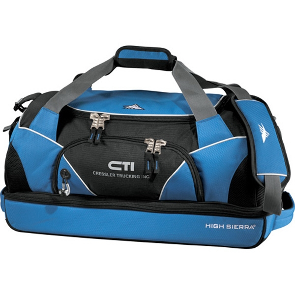 High Sierra (r) Crunk Cross (r) - 600 Denier Polycanvas Sport Duffel Bag. Front Pocket With Deluxe Organizer Photo