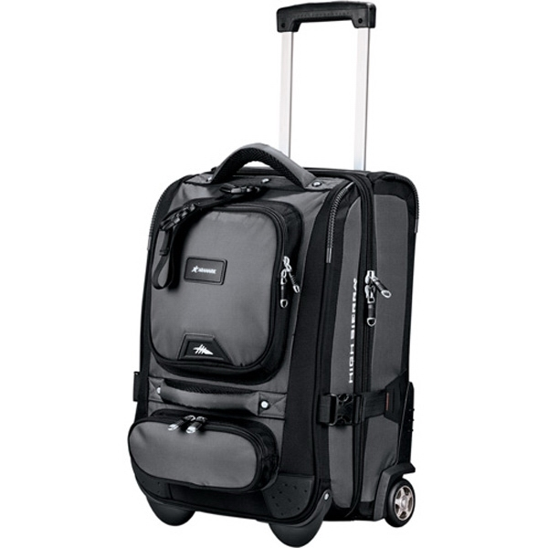 "High Sierra (r) Duffrite - Charcoal Color, 1680 Denier Ballistic Nylon, 21"" Carry-on Wheeled Duffel Bag Photo"