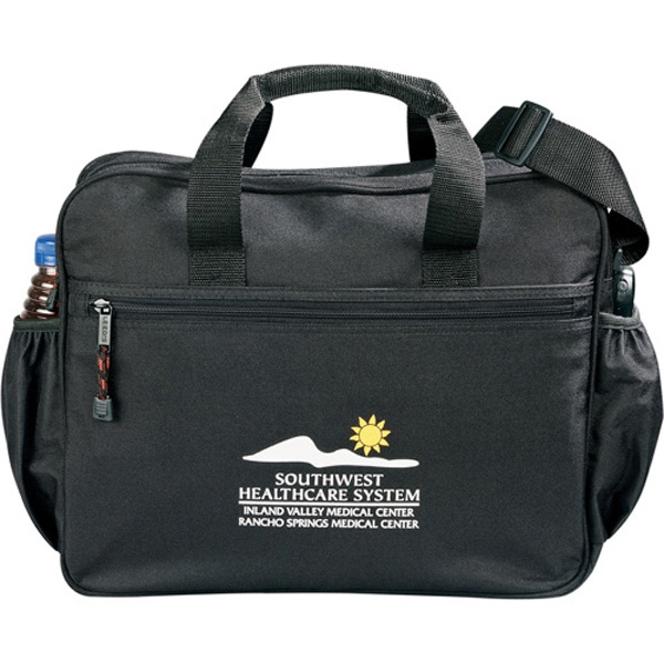 Excel (r) - Black Polycanvas Sport Deluxe Briefcase With An Adjustable Shoulder Strap Photo