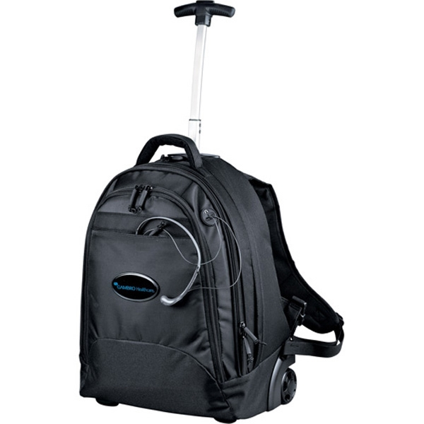 Navigator (tm) - Deluxe Rolling Backpack Made Of 840d Nylon With Telescoping Handle And Inline Wheels Photo