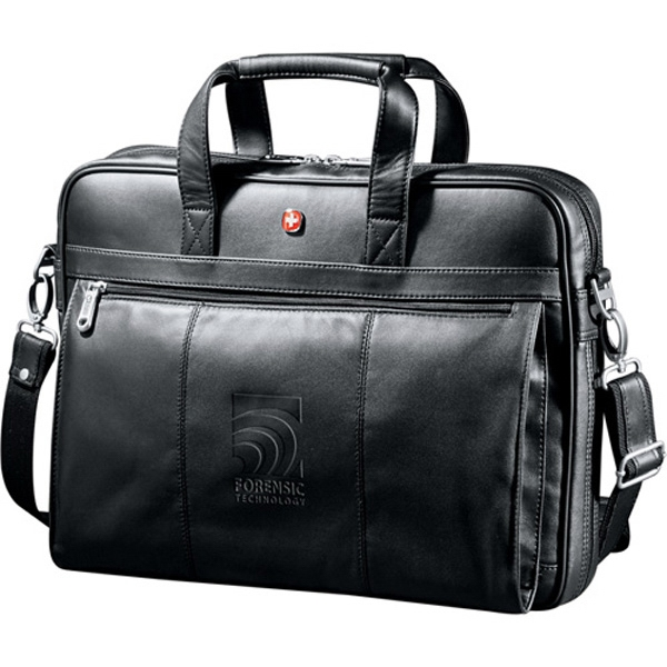 Wenger (r) Executive - Black Genuine Top Grain Leather Business Briefcase Photo