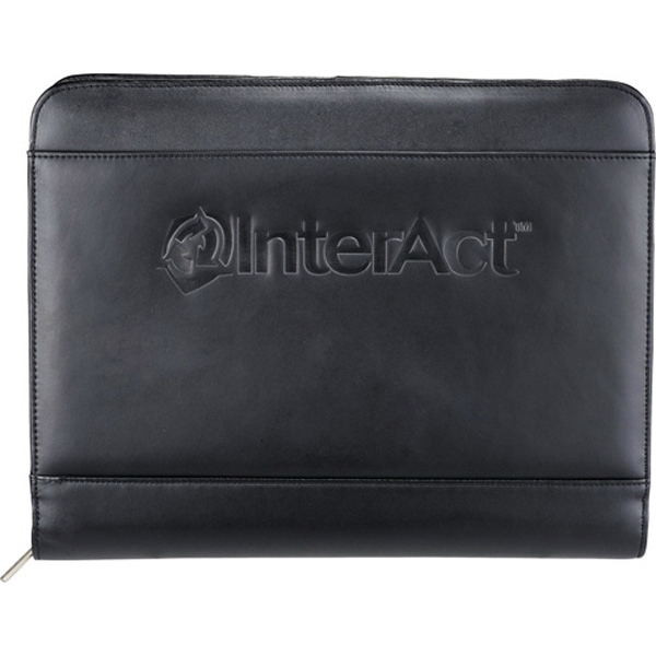 Genuine Top Grain Leather Portfolio With Zippered Closure And Media Case Photo