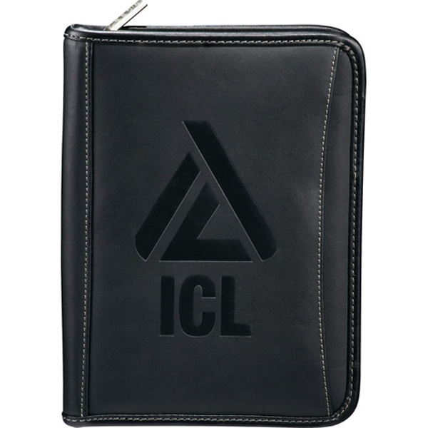Genuine Top Grain Leather Jr Padfolio With Zippered Closure Photo