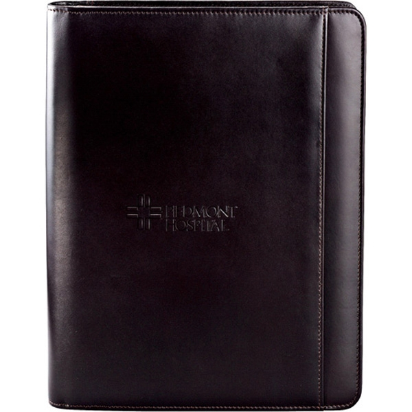American Classic - Genuine Top Grain Leather Zippered Padfolio With Interior Organizer Photo