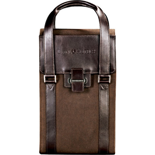 Cutter & Buck (r) - Wine Valet Featuring Signature Lining, Top Grain Leather And Waxed Cotton Twill Photo