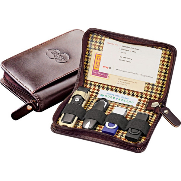 Cutter & Buck (r) - Genuine Top Grain Leather Usb Case With Four Elastic Bands Photo