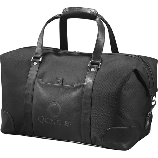Cutter & Buck (r) - Weekender Duffel Bag Made Of 1680 Ballistic And Napa Full Grain Leather Photo