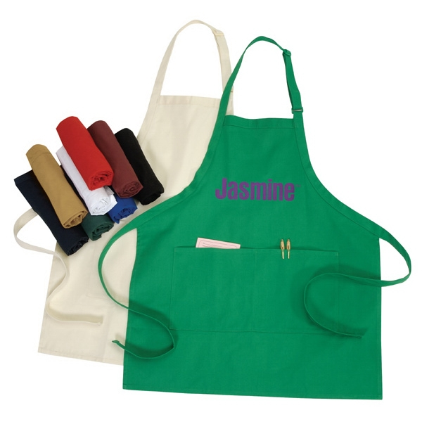 Polyester-cotton Adjustable Apron With Pockets, 10 Oz Photo