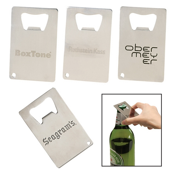 Credit Card Polished Bottle Opener Photo