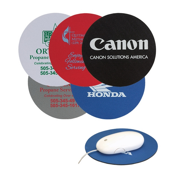 "6.5"" Round Soft Rubber & Jersey Mouse Pad"