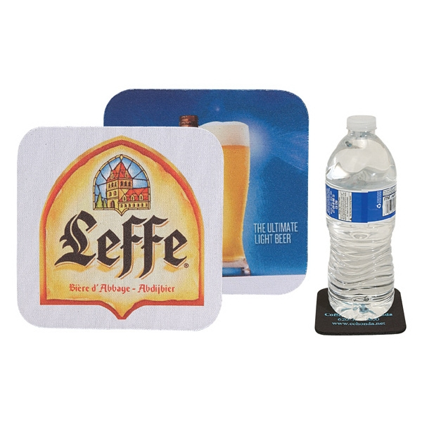 Square Soft Rubber & Jersey Skid Resistant Neoprene Coaster