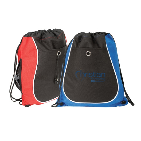 600 Denier Polyester Drawstring Backpack
