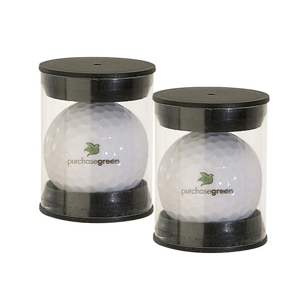 Single Golf Ball Pack w/ 4 Color Process