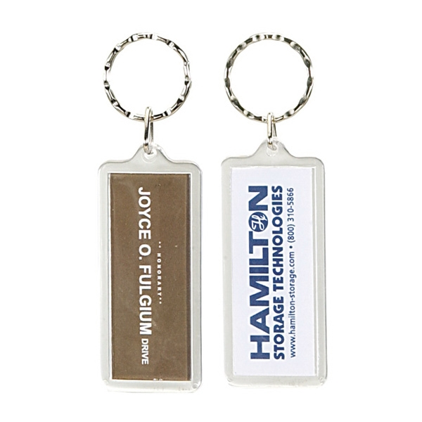 Rectangle Clear Acrylic Keyring